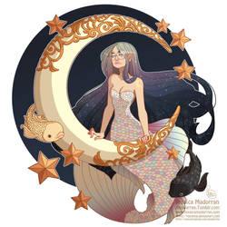 Character Design - Lunar Mermaid by MeoMai
