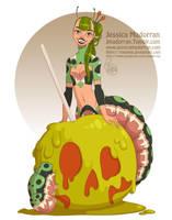 Drawlloween - Demon Caterpillar by MeoMai