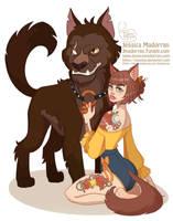 Drawlloween - Beauty and her Beast by MeoMai
