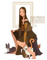 Character Design - Mona Lisa by MeoMai