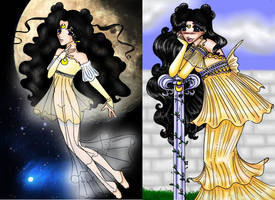 Pretty Lady - now and then by elila