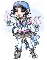 Chibi Sailor Platinum Unicorn by elila