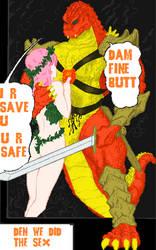 Warrior BGL Saves Booty Girl by Burninggodzillalord