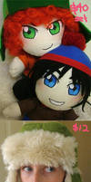 SP plushies and hat: FOR SALE by Kinky-chichi