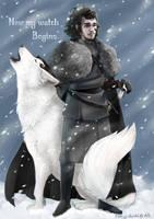 Now my watch Begins: Jon Snow by Kinky-chichi