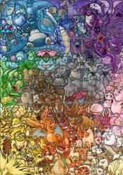 151 Pokemon by Kinky-chichi