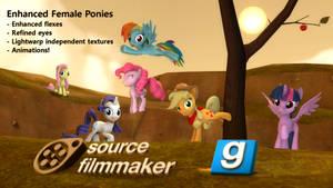 [DL] Enhanced female ponies by Stefano96