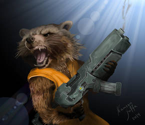 Rocket Raccoon (Guradians of Galaxy) by kamran-julfa