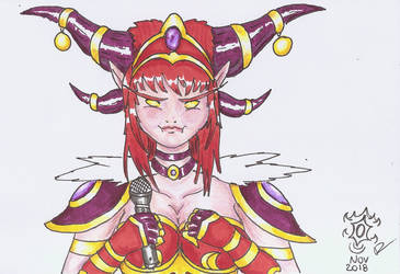 Alexstrasza doing an angry Jigglypuff face by Roquer0