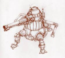 Steampunk mech II by likaspapaya