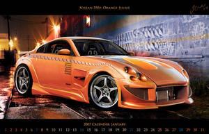 Nissan 350Z: Orange Julius by Gurnade