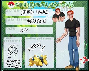 Pokemon Township: Spike Hawke by DoublePensword