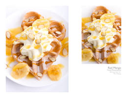 banana waffles by peachjuice