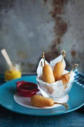 Mini Cheese Corndogs by peachjuice