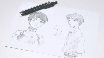 Shinji Ikari by RonAyllon
