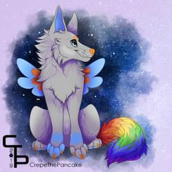 Rainbow Galaxy   personal work by CrepeThePancake