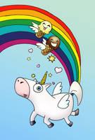 Fruity Flooty Fartin' Unicorn by goRillA-iNK