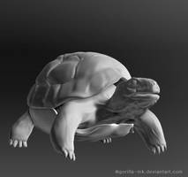 Red Footed Tortoise, ZBrush by goRillA-iNK