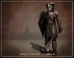 Red Empire gaurd design by bramiac