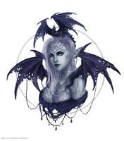 Frostdragon sorceress by Nymerii