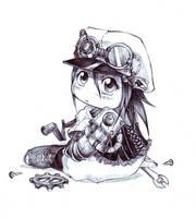 Steampunk Chibi - What? by ObsidianWerewolf