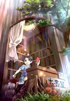 Tree's bookshop by yoeah