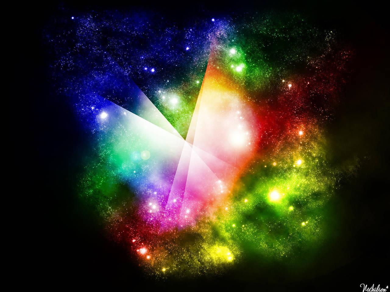 Starsfield Rainbow wallpaper by nithilien