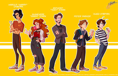 TONY STARK'S TEEN AVENGERS - lineup by spidertams