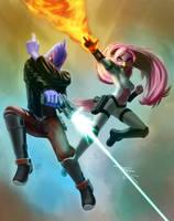 Nova and Falco by JECBrush