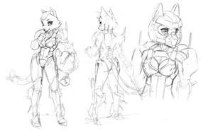 WIP: Katt Armor Character Sheet by JECBrush