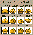 NaNoEmo 2013 PumpkinMote Expressions DONE by SparklyDest