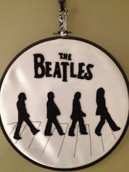 The Beatles Abby Road Silhouettes Embroidery Hoop by CutieCornerCrafts