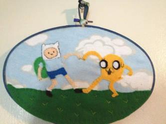 Adventure Time - Finn and Jake friendship heart by CutieCornerCrafts