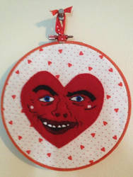 Ricardio from Adventure Time Embroidery Hoop by CutieCornerCrafts