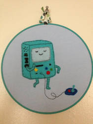 BMO Beemo Adventure Time Embroidery Hoop by CutieCornerCrafts