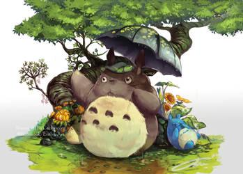 Totoro by Closz
