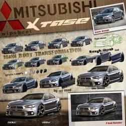 Mitsubishi Xtase_WIPsheet by yasiddesign