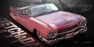 Cadillac Sketchaday Final by yasiddesign