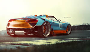 Porsche 918 spyder wide by yasiddesign
