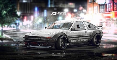 Speedhunters Need for speed tribute Ae86 trueno by yasiddesign