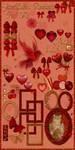 JaneEden's Romantic Craft Kit-stock by JaneEden