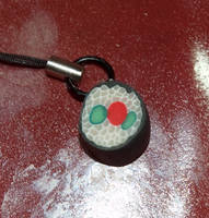 Sculpey Clay Sushi Cellphone Charm by LillyInverse
