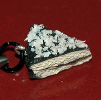 Chocolate Coconut Cake Sculpey Cellphone Charm by LillyInverse