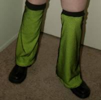 Custom UV Reactive Yellow Leg Warmers by LillyInverse