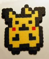 Tiny Pikachu Perler by LillyInverse