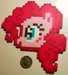 Pinkie Pie Perler Head by LillyInverse