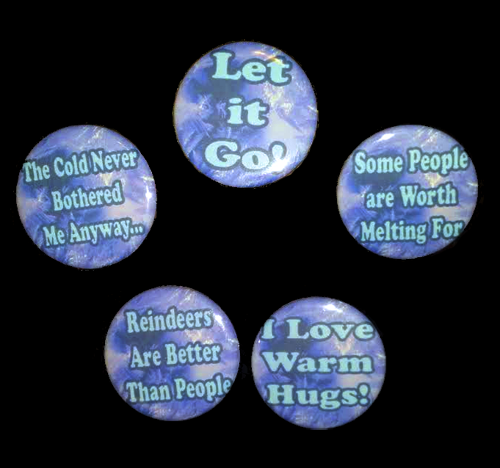 Frozen-Themed Button Set by LillyInverse