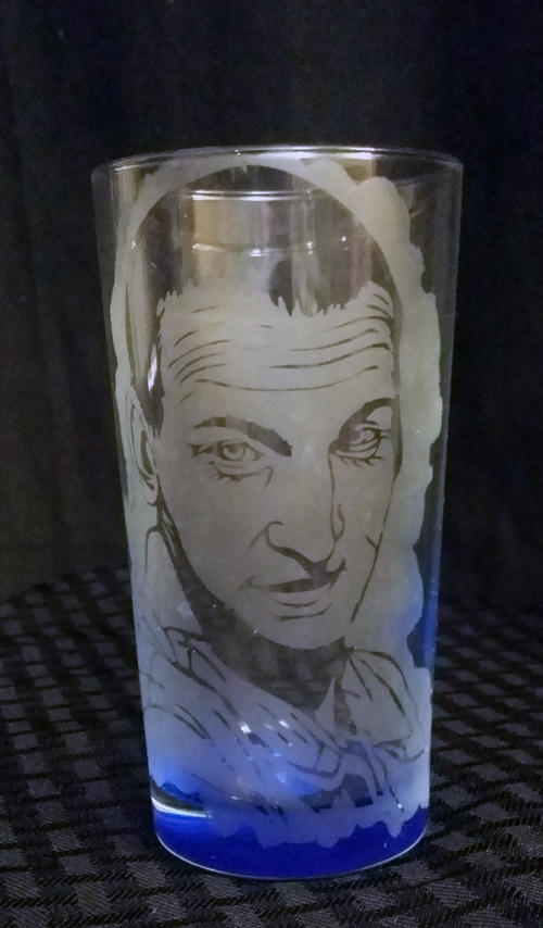 9th Doctor / Christopher Eccleston etched glass by LillyInverse