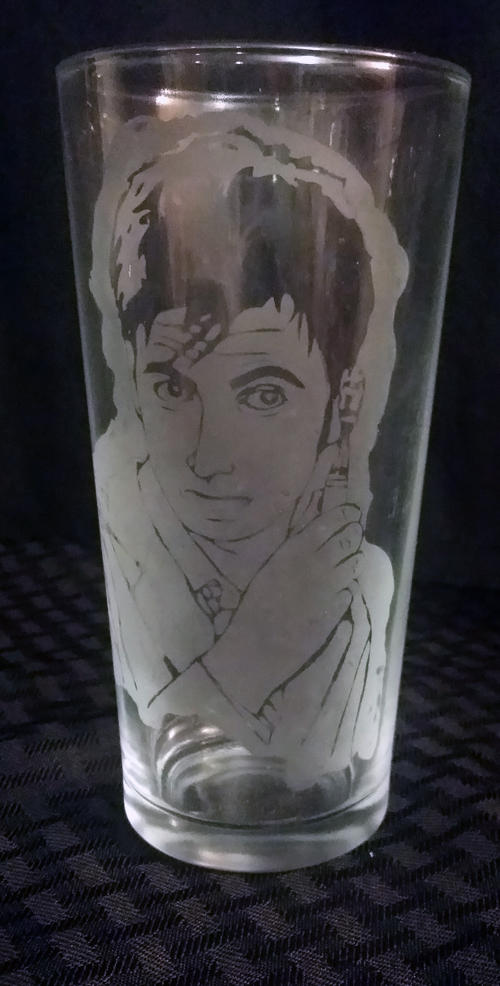 10th Doctor / David Tennant Etched Glass by LillyInverse