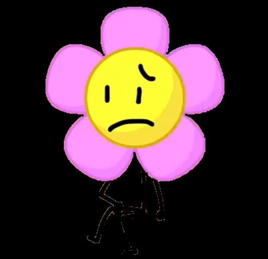 BFDI Flower Sitting By Thebestpersonever122 On DeviantArt